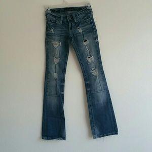 Afflliction Black premium boot cut jeans. Size 25.
